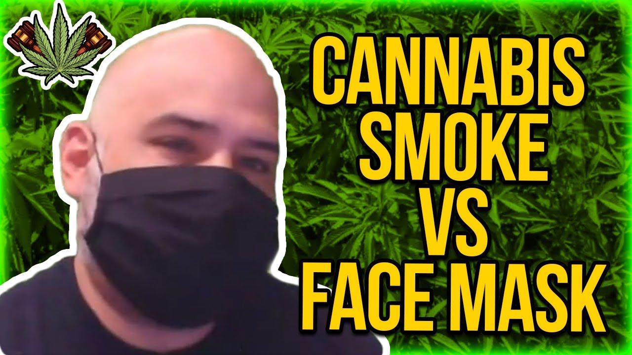 Cannabis Smoke vs Face Mask - Schlieren Imaging